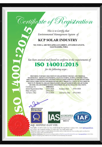 ISO Certification - 14001-2015