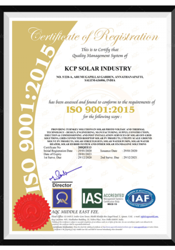ISO Certification - 9001-2015